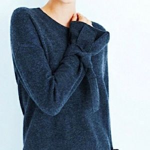 Madewell Tie Cuff Pullover Sweater Blue Size Small